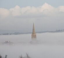 Cathedral In The Mist Derry Ireland by mikequigley