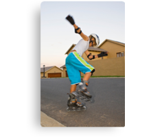 Afternoon Rollerblading Session Canvas Print