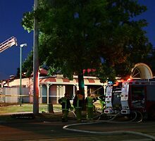 Hungry Jacks Fire Albury 2 by John Vandeven
