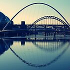 bridges - Newcastle upon tyne by Aneira