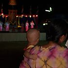 Baby watching Shan girls dancing by fabianfred