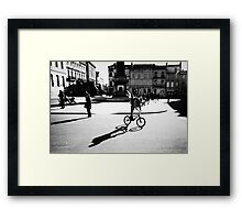 Sunny Plaza - Arles, France - 2010 Framed Print