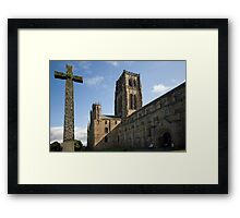 Durham Cathedral and The Cross Framed Print