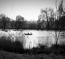 The Regents Park - Black and White by Erin Guest