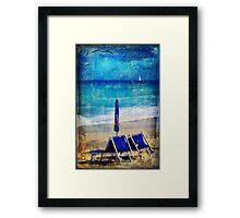 White sail Framed Print