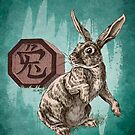 Chinese Zodiac - The Rabbit Card by Stephanie Smith