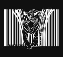 WHITE TIGER BARCODE  T-Shirt