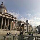 Trafalgar Square in the morning by Steven Mace