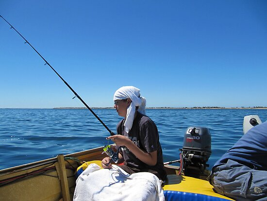 Hot today Pirate Pete! Point Turton, Spencer Gulf, Sth, Australia. by Rita Blom