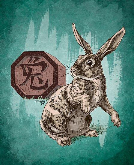 Chinese Zodiac - The Rabbit  by Stephanie Smith
