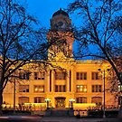 six-fifteen: Sacramento's Old City Hall under lights by Lenny La Rue, IPA