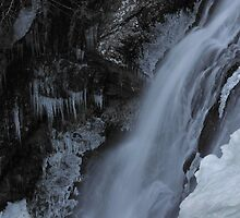Winter Waterfall Detail by Stephen Vecchiotti