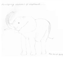 Developing sketches of elephants #1 by kofie