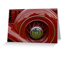 1933 Chrysler Abstract Greeting Card
