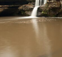 Upper Falls and Branch - Hocking Hills by Shannon Workman