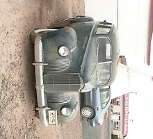 A Dark Blue Packard at Wigwam Motel, Holbrook, AZ. by Mywildscapepics