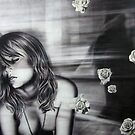 'More than Anything' 150cm x 200cm    Charcoal and Acrylic on Stretched Canvas by Warren Haney