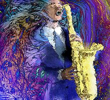 The Sax Player by Rick Borstelman