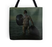 Carrying Two Hearts Tote Bag