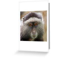 Blue Monkey Greeting Card