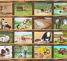 Stockdog ~ Working Australian Shepherd ~ Collage by Barbara Applegate