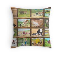 Stockdog ~ Working Australian Shepherd ~ Collage Throw Pillow