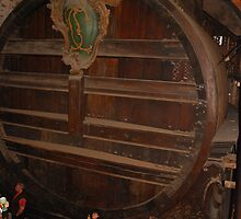 The World's Largest Wine Barrel, Heidelberg castle, Germany by roumen