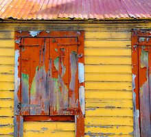 Orange shutters - St. Martin, DWI by Susana Weber