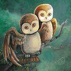 Owl Friends by AngelArtiste