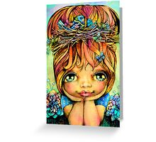 Taisie Blue Greeting Card