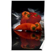 Smokin Peppers Poster