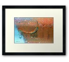Drip-Dried Framed Print