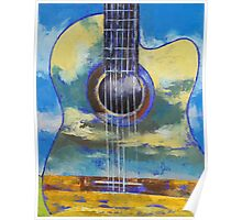 Guitar and Clouds Poster