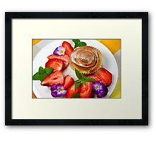 Sweet Muffin With Strawberry Framed Print