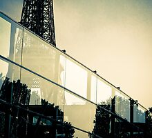 Eiffel through glass by ROGUEstudio