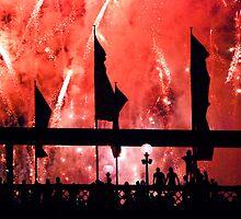 Fireworks Revellers  by Gennadi