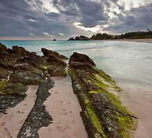 Dusk Drawing in Over Horseshoe Bay, Bermuda by Lucy Hollis