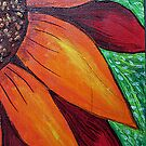 Red Orange Sunflower-detail by KFStudios