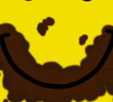 I Love Chocolate Smiley Face Sticker