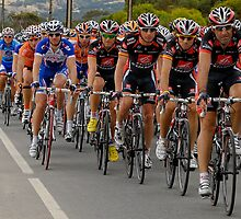Santos Tour Down Under 2010 Stage 5 Peloton on Aldinga Rd II by DavidIori