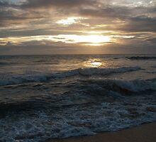 Sunset over Negombo beach, Sri Lanka by Rajeev Costa
