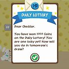 1000 Coins in Pet Society Daily Lottery by Poochyena4Ever