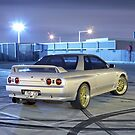 Silver Nissan R32 Skyline GTR #1 by John Jovic