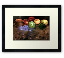 Ele Citrusity Framed Print