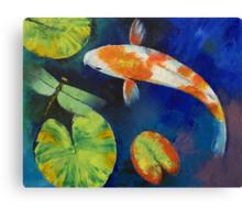 Kohaku Koi and Dragonfly Canvas Print