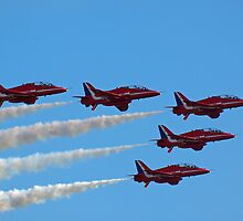 Red Arrows Fly Pass by Sarah Veacock