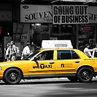 Yellow Cab - Times Square by Julien Delebecque