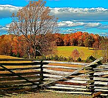 Autumn, Rural Farm Land Scenery Print by trevortrent
