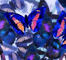 Abstracted Butterflies in Fauvist Colors #21  by Ivana Redwine