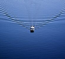 Shuttle Boat On Jenny Lake by Alex Preiss